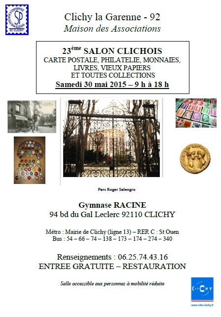 Salon clichois carte postale philat lie ot clichy for Salon carte postale
