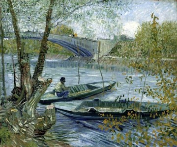Pêche au printemps au pont de Clichy à Asnieres -Vincent Van Gogh 1887 - © Art Institute of Chicago