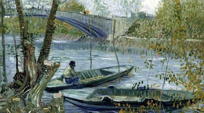 Pêche au printemps au pont de Clichy à Asnieres -Vincent Van Gogh 1887 - © Art Institute of Chicago