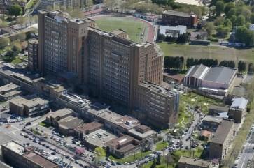 Vue aérienne Hôpital Beaujon © Ville de Clichy