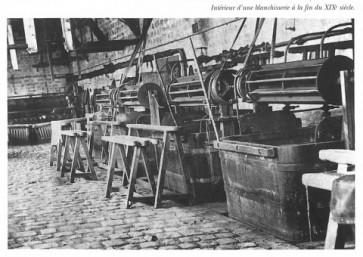 Intérieur d'une blanchisserie à la fin du XIX siècle