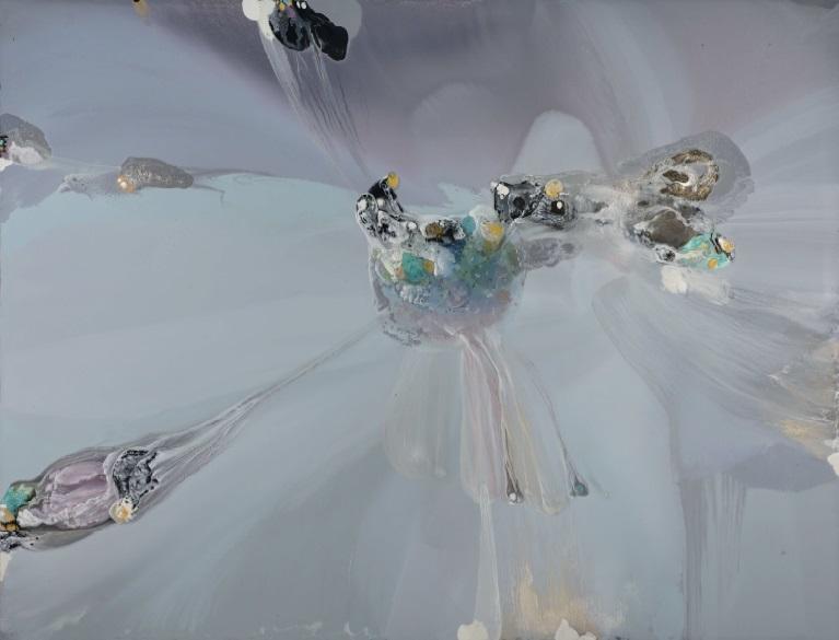 Banquise - Lionel Sabatté, huile sur toile, 240 x 300 cm. photo ©Rebecca Fanuele