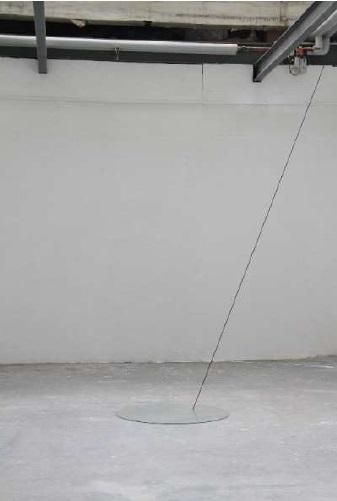 Jessica Boubetra, le Lac tendu, 2014, verre et caoutchouc, dimensions variables ©Jessica Boubetra