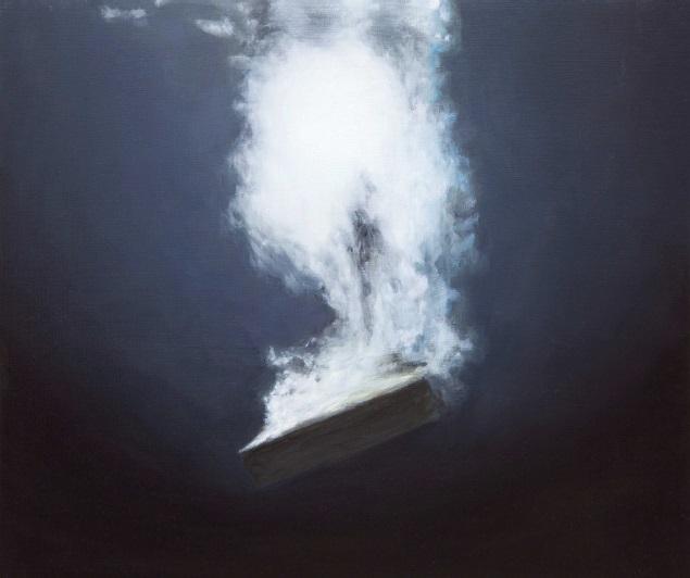 D'autres possibles - Damien Cadio, De l'histoire du nougat à l'interprétation des rêves, 2012 - huile sur bois, 26h30. Courtesy Galerie Eva Hober