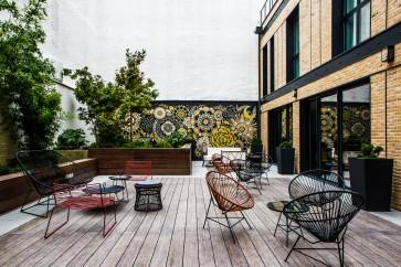 Terrasse intérieure © 2017 L'Imprimerie Hôtel
