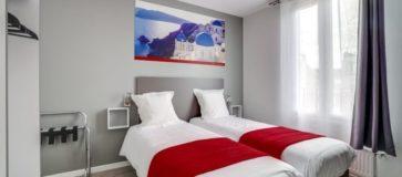 chambre double - 2 lits simples © Hôtel Paris Clichy