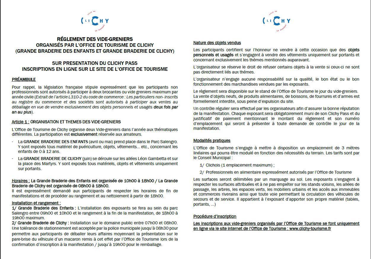 Calendrier Des Vide Grenier 2020.Les Brocantes De L Office De Tourisme Ot Clichy